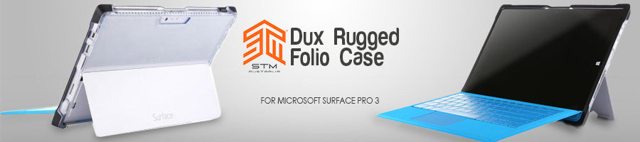 stm dux rugged folio case for microsoft surface pro 3 black/clear