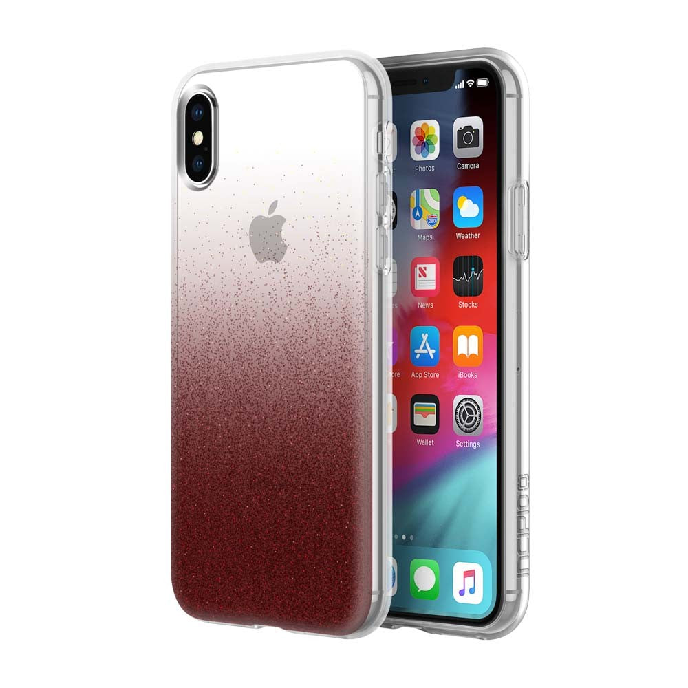 iPhone XS Max Clear Glitter red case from Incipio Design series Australia Stock