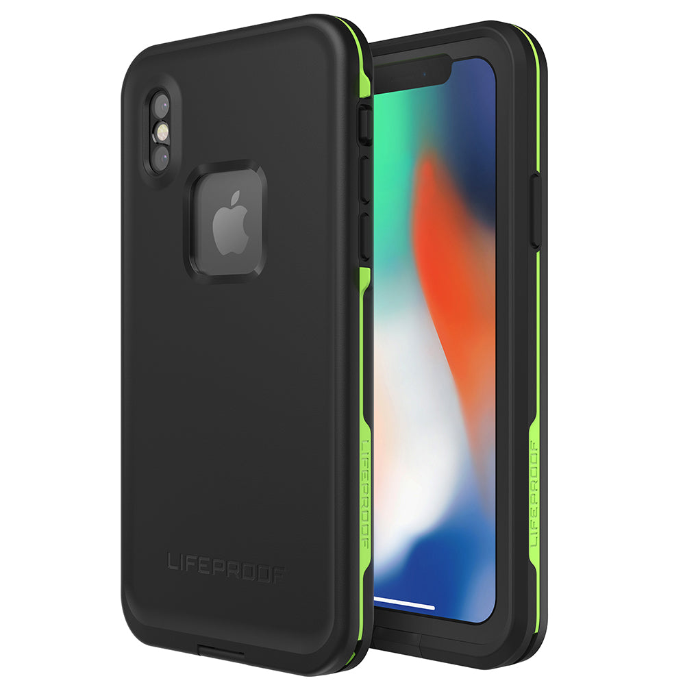 LIFEPROOF FRE WATERPROOF CASE FOR IPHONE X - BLACK/LIME
