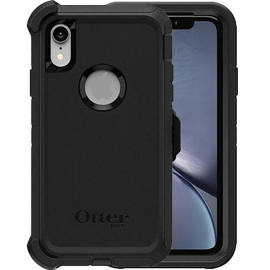 newest collection 6e32e ee56b OTTERBOX DEFENDER SCREENLESS EDITION RUGGED CASE FOR IPHONE XR - BLACK