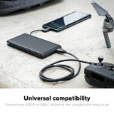 MOPHIE POWERSTATION XL 12000MAH EXTERNAL BATTERY W/USB-C CABLE - BLACK