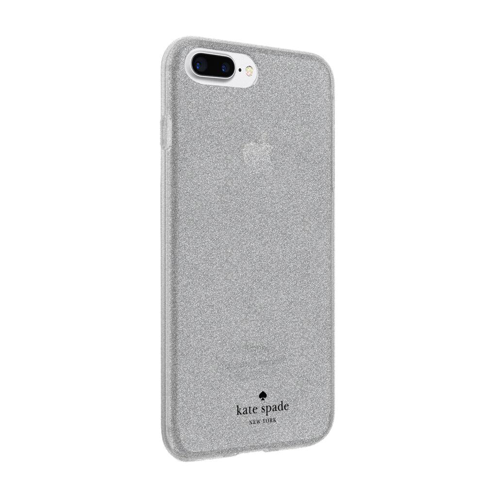 KATE SPADE NEW YORK FLEXIBLE GLITTER CASE FOR iPHONE 8 PLUS/7 PLUS - SILVER Australia Stock