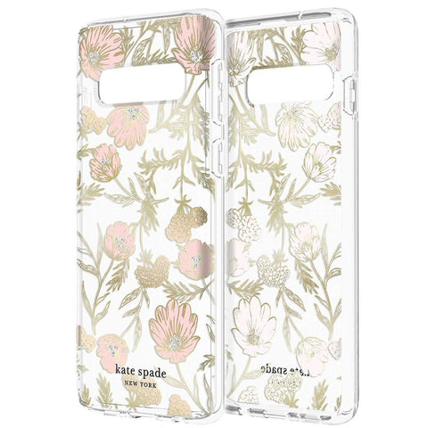 buy online clear case with flower pattern for samsung galaxy s10