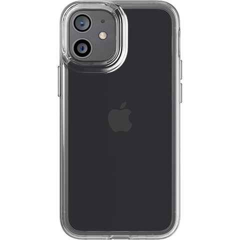 fitted case for iphone 12 mini from tech21 australia. clear case with drop proof and anti sctracth technology