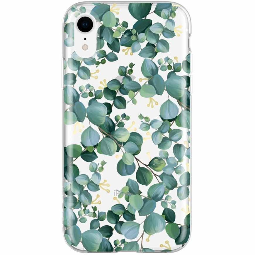 Green floral pattern case for iphone XR. A woman style case from Incipio Australia Australia Stock
