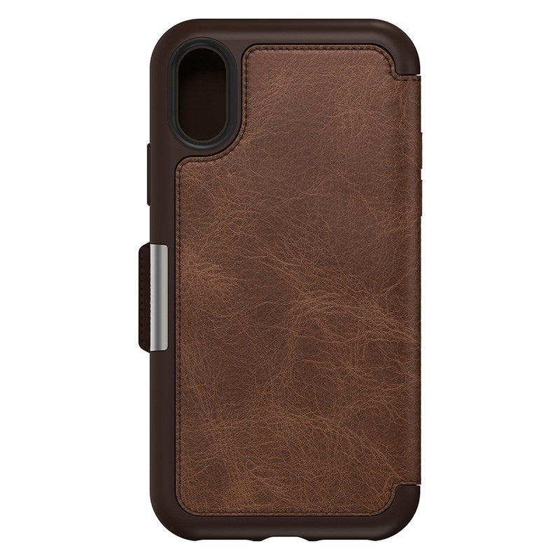 leather folio case for iphone xr with card slots espresso colour. buy online only at syntricate and get afterpay payment. Australia Stock
