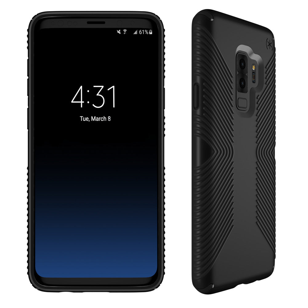 size 40 e4c52 3b68c SPECK PRESIDIO GRIP IMPACTIUM CASE FOR GALAXY S9+ PLUS - BLACK/BLACK