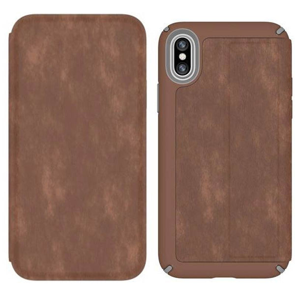 Speck Presidio Card Folio Leather Case For Iphone XS/X
