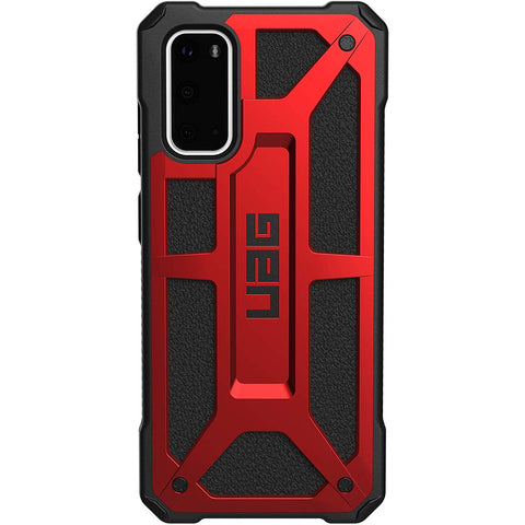 "UAG Monarch Handcrafted Rugged Case For Galaxy S20 (6.2"") - Crimson"