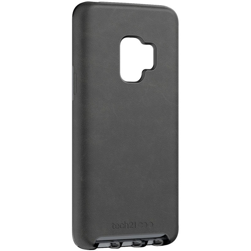tech21 evo luxe vegan leather flexshock case for galaxy s9 black Australia Stock
