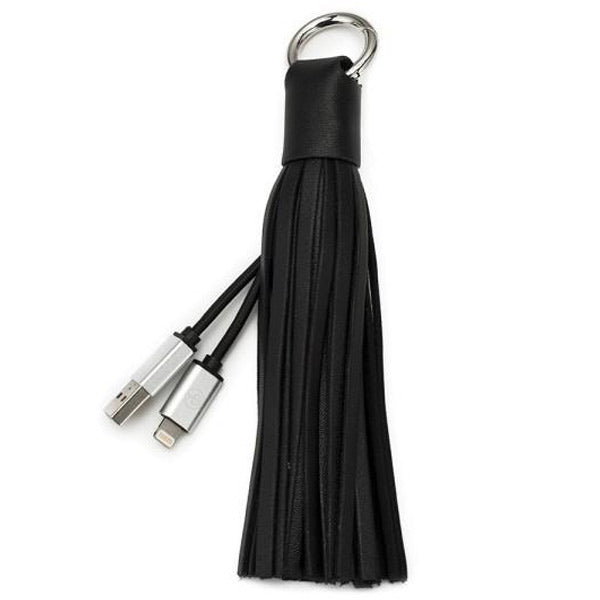 place to buy Chic Buds Tassel Keyring Charm Cable with Lightning Connector - Black australia