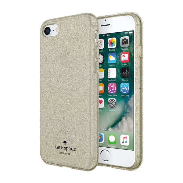 Kate Spade New York Flexible Glitter Case For Iphone 8/7/6s Gold Color