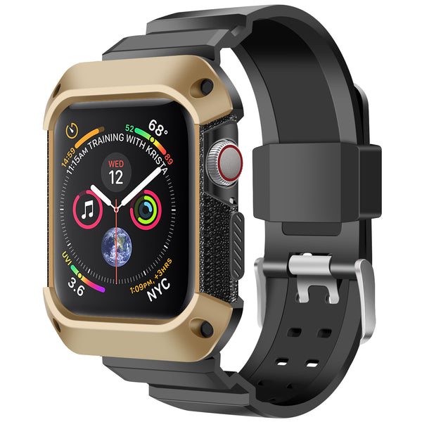 Shop Australia stock FLEXII GRAVITY Rugged Protective Case With Strap Band For Apple Watch Series 5/4 (44mm) - Gold/black with free shipping online. Shop FlexiiGravity collections with afterpay