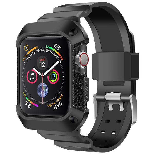 Shop Australia stock FLEXII GRAVITY Rugged Protective Case With Strap Band For Apple Watch Series 5/4 (44mm) - Black/Black with free shipping online. Shop FlexiiGravity collections with afterpay