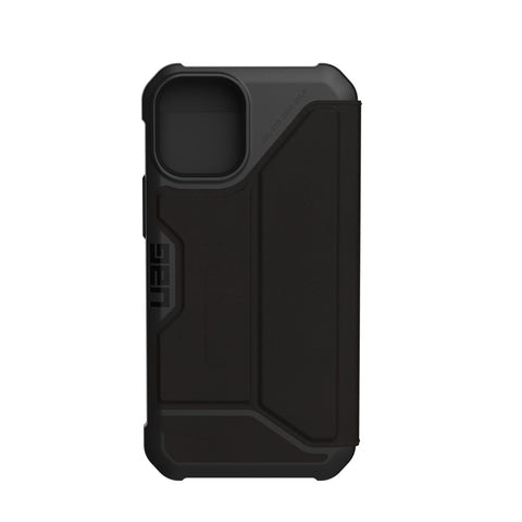 "Buy New iPhone 12 Mini (5.4"") Metropolis Card Folio Case From UAG - Leather Black authentic accessories with afterpay & Free express shipping."