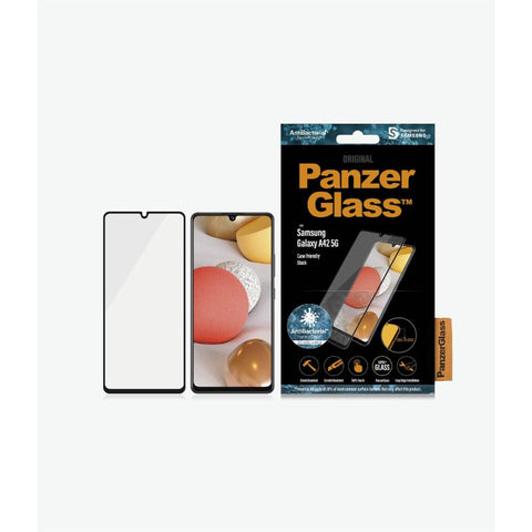 Place to buy online screen protector panzerglass comes with rounded edges more protect your Galaxy A42 5G.