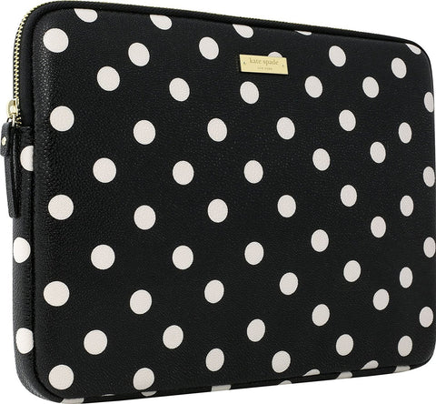 KATE SPADE NEW YORK PRINTED SLEEVE FOR SURFACE PRO 6/PRO 5/PRO 4 - DECO DOT BLACK/CREAM