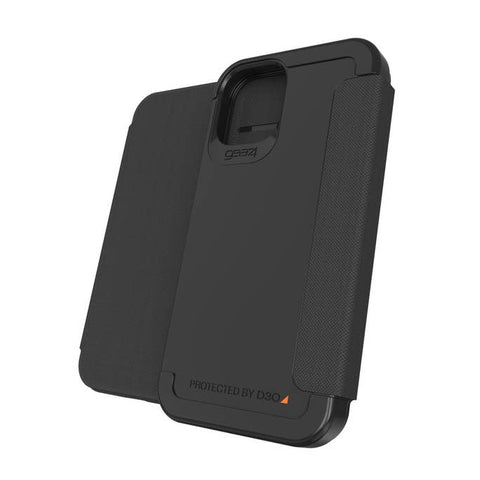 "Get the latest iPhone 12 Pro/12 (6.1"") Wembley Flip D30 Rugged Card Folio Case From GEAR4 - Black Online local Australia stock."