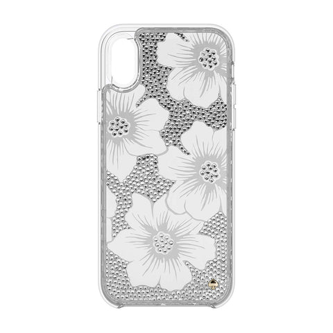 KATE SPADE NEW YORK FULLY CLEAR CRYSTAL PROTECTIVE CASE FOR IPHONE XR - HOLLYHOCK CREAM/BLUSH/GEM