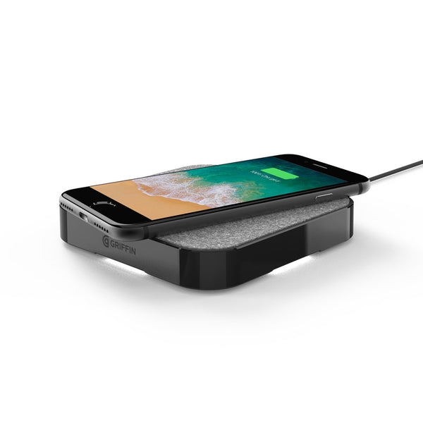 griffin powerblock 15w wireless charging pad for qi-compatible devices
