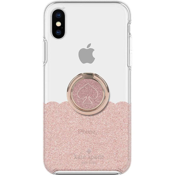 Get the latest GIFT SET PROTECTIVE CASE & RING STAND FOR IPHONE XS/X - SCALLOP ROSE GOLD/CLEAR FROM KATE SPADE NEW YORK with free shipping online.