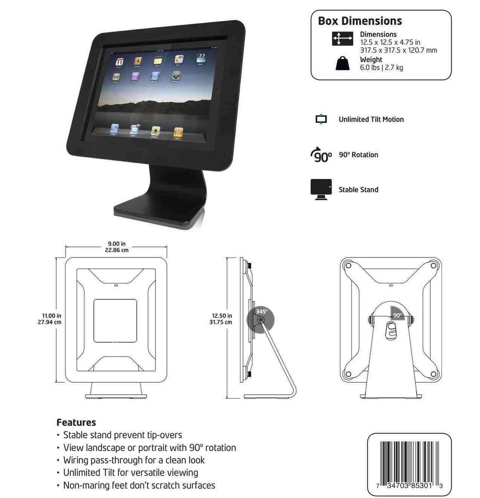 Shop Australia stock MacLocks iPad Security Enclosure Kiosk of iPad 9.7/Air 2/Pro 9.7/Air - Black with free shipping online. Shop Maclocks collections with afterpay Australia Stock