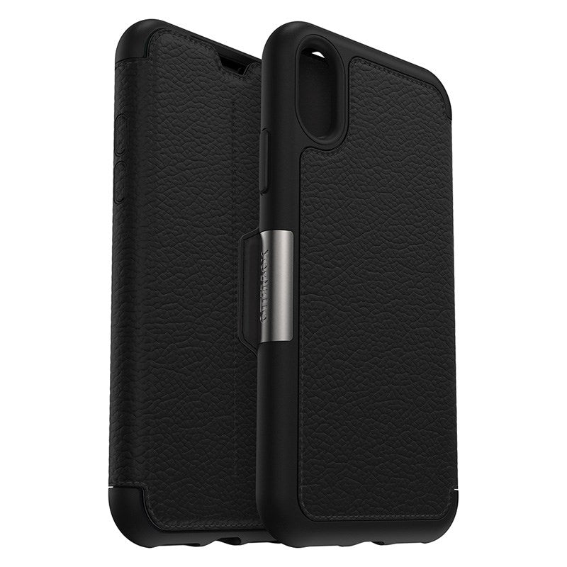 Strada folio iPhone XS & iPhone X Case black. Leather case from Otterbox Australia Stock
