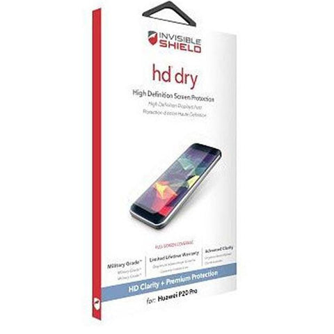 Buy new and genuine Zagg Invisible Shield Hd Dry Screen Protector Huawei P20 Pro