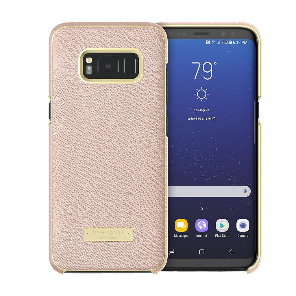 Shop Australia stock KATE SPADE NEW YORK WRAP PROTECTIVE CASE FOR GALAXY S8 - SAFFIANO ROSE GOLD / GOLD LOGO PLATE with free shipping online. Shop Kate Spade New York collections with afterpay Australia Stock