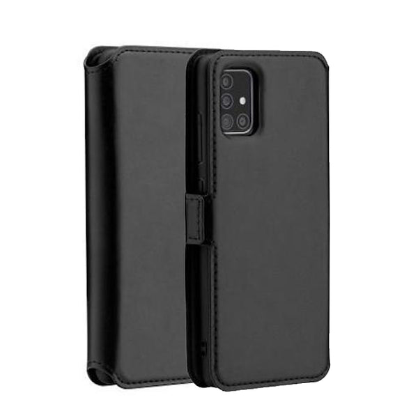 buy online local stock folio leather case for samsung a51 australiawith card slot black colour