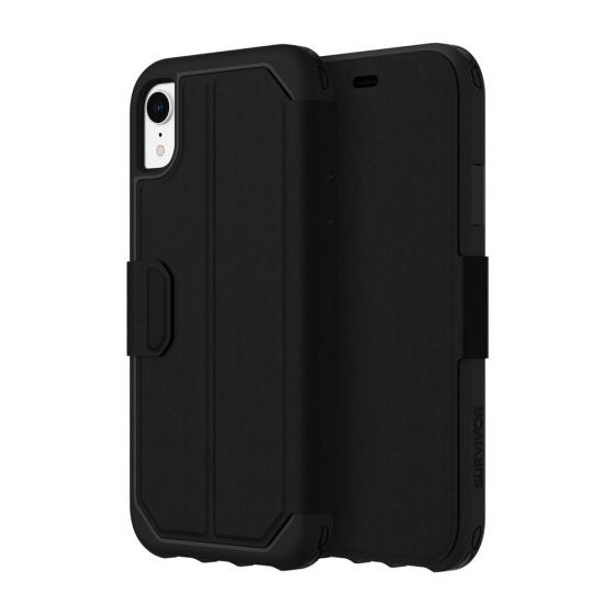 save off 5f7fe ae2ca GRIFFIN SURVIVOR STRONG CARD WALLET FOLIO CASE FOR IPHONE XR - BLACK