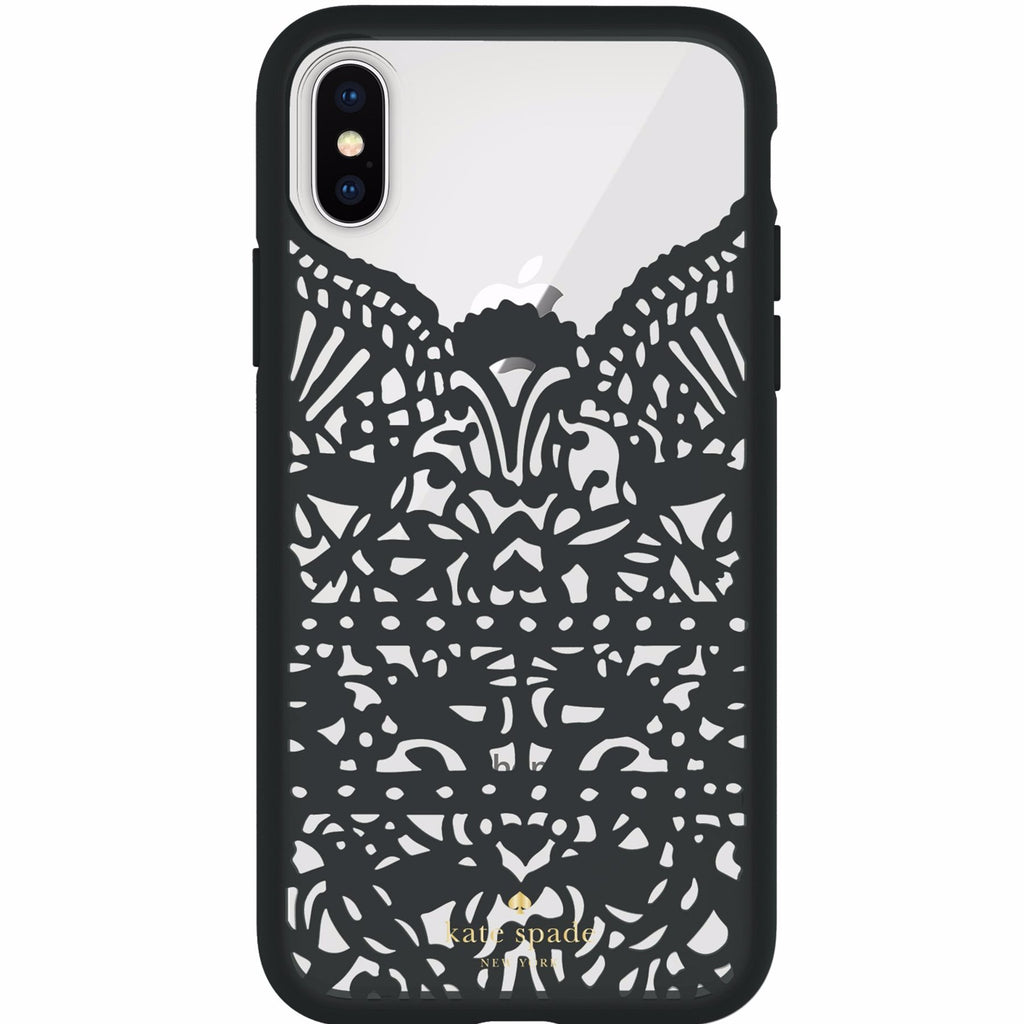 KATE SPADE NEW YORK LACE CAGE CASE FOR IPHONE XS/X - HUMMINGBIRD BLACK AND CLEAR Australia Stock