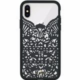 KATE SPADE NEW YORK LACE CAGE CASE FOR IPHONE XS/X - HUMMINGBIRD BLACK AND CLEAR