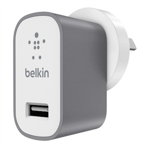 Belkin Metallic Home Wall USB Charger 2.4Amps  - Space Grey
