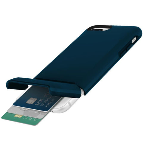 INCIPIO STASHBACK DOCKABLE CREDIT CARD CASE FOR IPHONE 8 PLUS/ 7 PLUS - NAVY