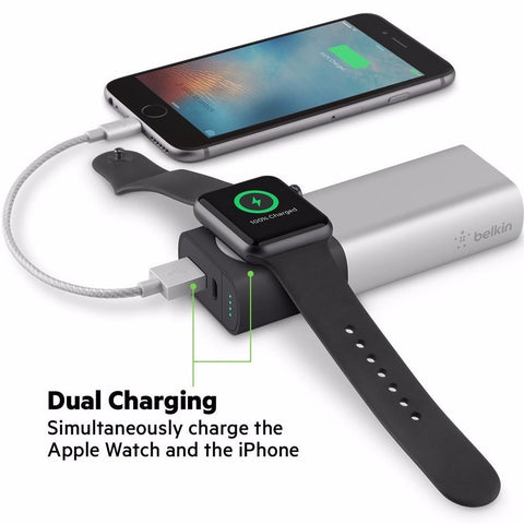 Belkin Valet Charger Power Pack 6700mAh for Apple Watch + iPhone