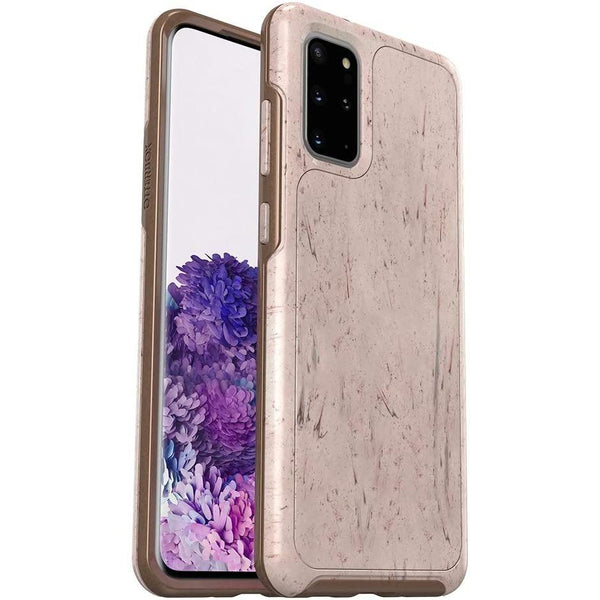 sasmsung s20 plus 5g pattern case from otterbox australia. stone pattern cream colour