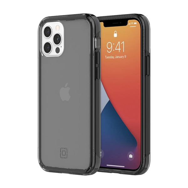 Dark grey clear and minimalist case for new iphone 12 and 12 pro from incipio australia. Great for daily use and minimalist design.