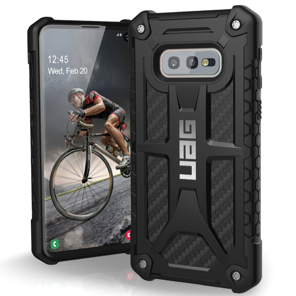 premium selection 3a161 eb820 UAG MONARCH HANDCRAFTED RUGGED CASE FOR GALAXY S10E (5.8-INCH) - CARBON  FIBER