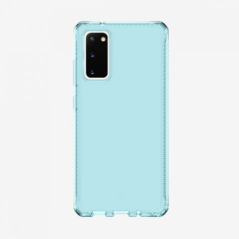 Best rugged clear slim case with light blue color for your galaxy s20 (fe) 5g, shop online at syntricate and enjoy afterpay payment with interest free.