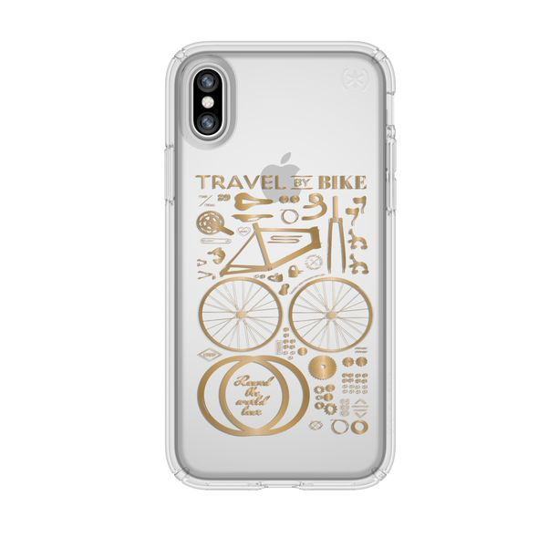 Shop Australia stock SPECK PRESIDIO CLEAR PRINT CASE FOR iPHONE XS/X - CITY BIKE METALLIC GOLD YELLOW with free shipping online. Shop Speck collections with afterpay Australia Stock