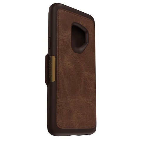 OTTERBOX SYMMETRY STRADA LEATHER FOLIO CASE FOR GALAXY S9 - ESPRESSO