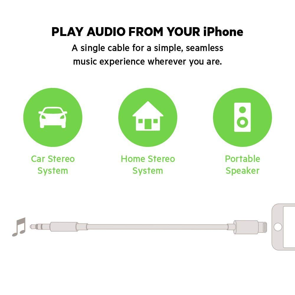 Shop Australia stock BELKIN 3.5MM AUDIO CABLE WITH LIGHTNING CONNECTOR (0.9M) - WHITE with free shipping online. Shop Belkin collections with afterpay Australia Stock