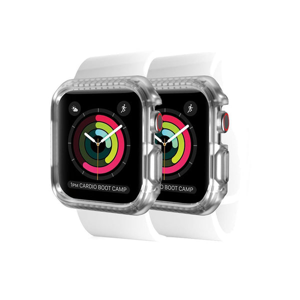 apple watch series SE/6/5/4 clear case rugged case from itskins australia. buy online only at syntricate with afterpay payment