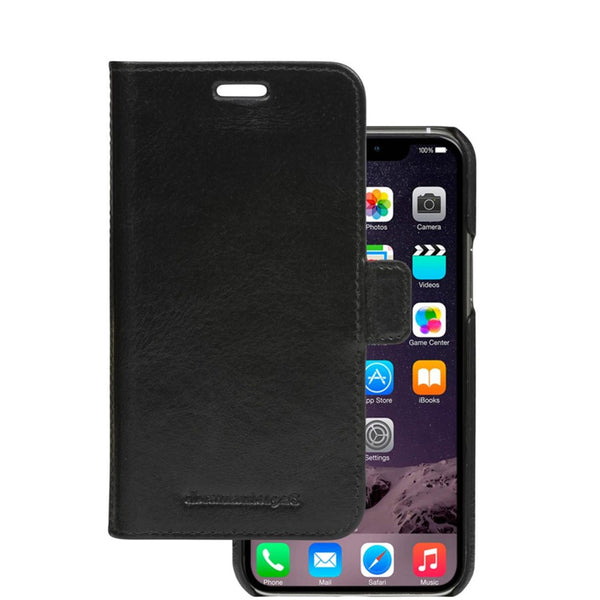 black folio leather case for iphone 11 pro max