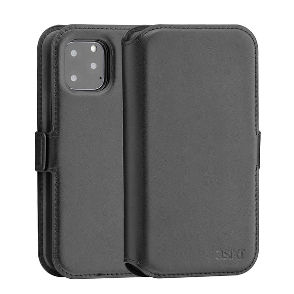 3SIXT NeoWallet 2.0 2-in-1 Leather Folio Case For iPhone 11 Pro Max (6.5) - Black