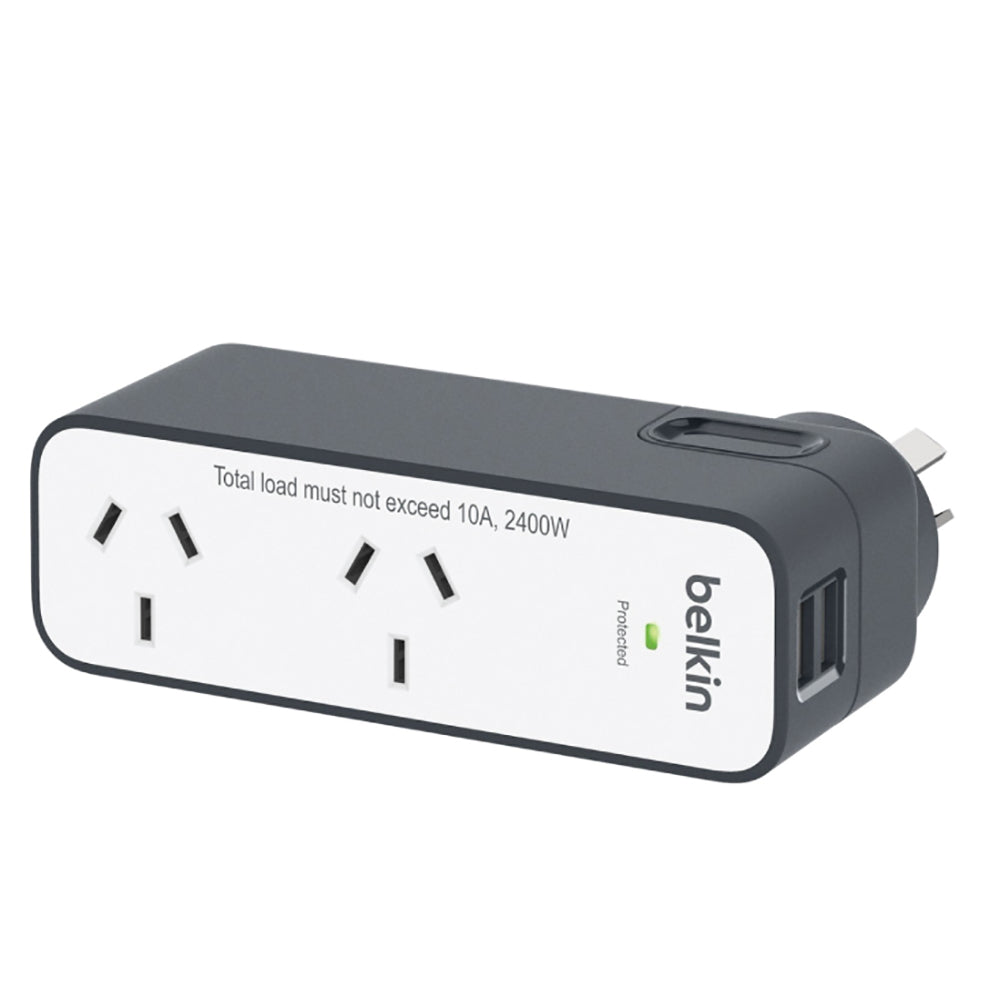 Shop Australia stock Belkin Surge Plus 2 Outlet USB 2.4Amp/12W Travel Charger with free shipping online. Shop Belkin collections with afterpay Australia Stock