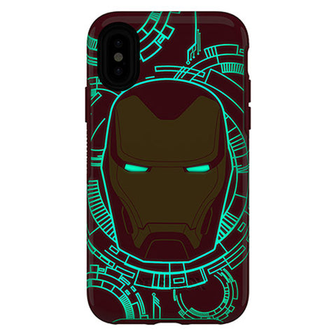Buy new otterbox case with designer design iron man and glow in the dark for your iphone XS/X the authentic accessories with afterpay & Free express shipping.
