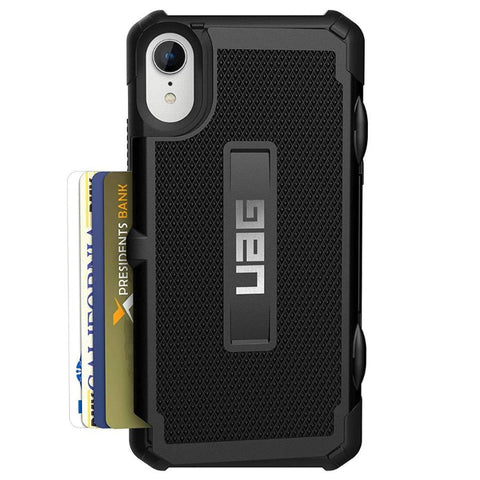 black rugged case for iphone xr from uag with card slot. Shop Online from Australia biggest online Case & Accessories at syntricate.