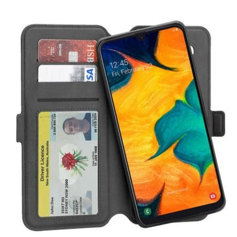 "3SIXT NeoWallet Leather Folio Case For Galaxy S10 5G (6.7"")- Black"